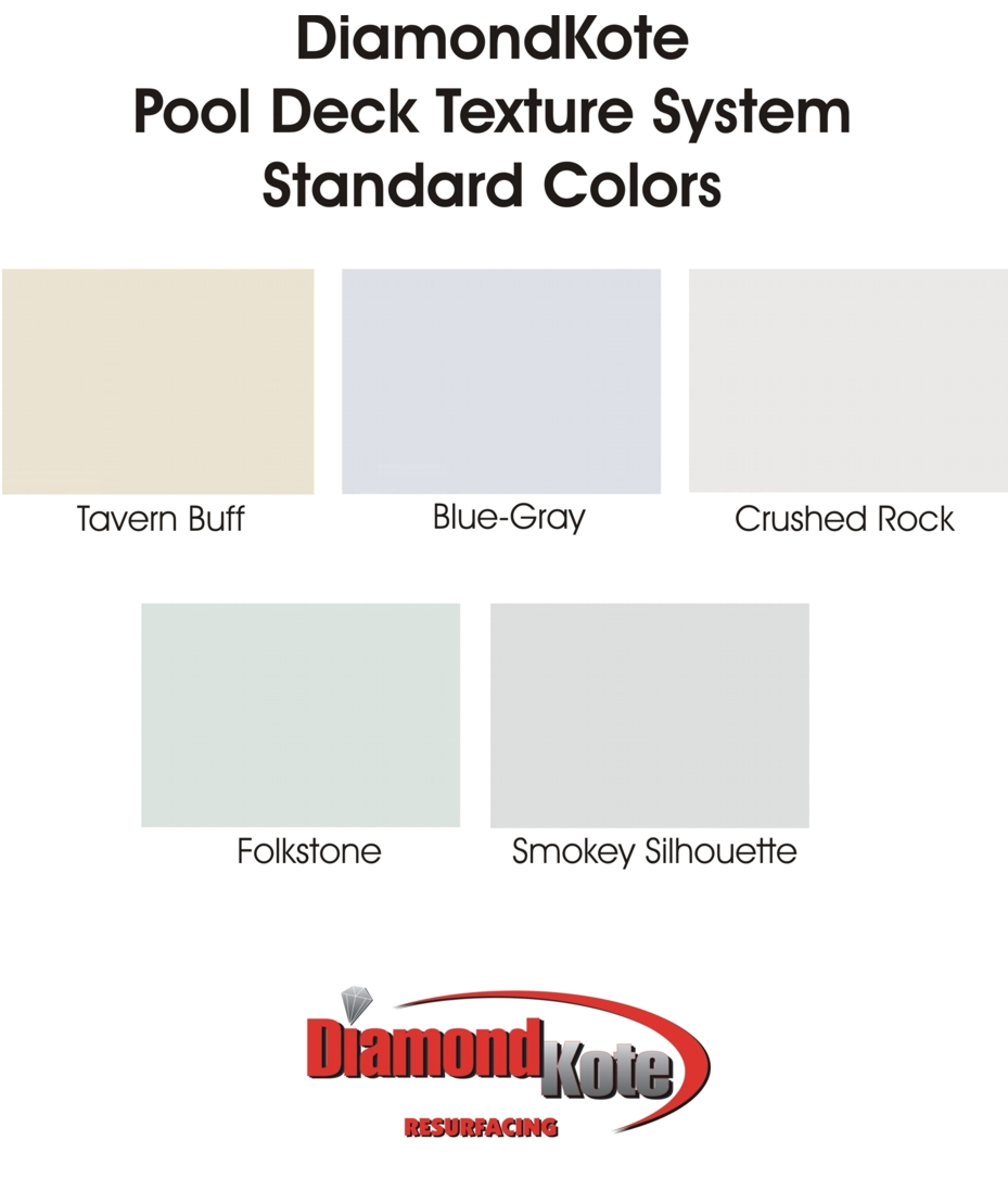 Pool Deck Color Charts