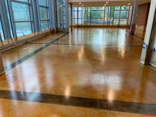 Acid Stain creates Rustic Beauty for this University Film Center Floor.